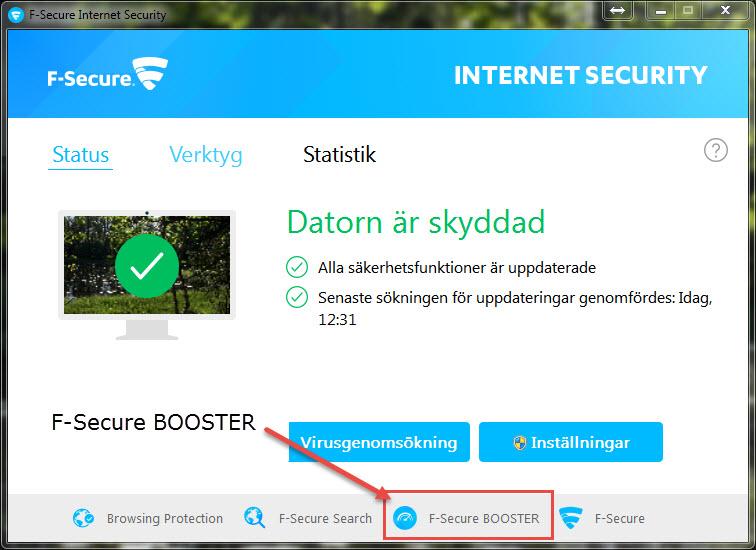 F-secure-booster - Microsoft Windows