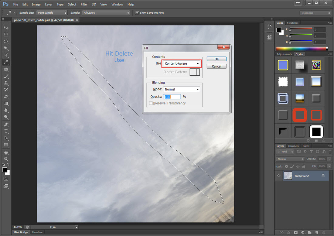 How to fix Vertical Lines in the sky - Garden Gnome Software